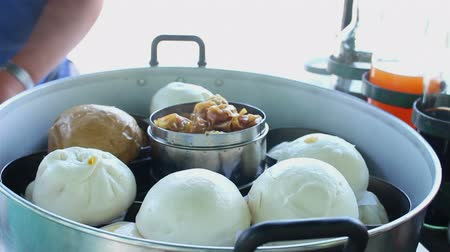 steamed stuff bun in the steaming pot