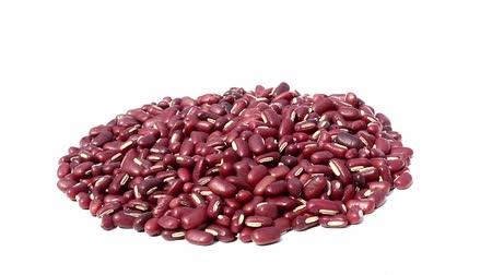 red beans on isolated white background