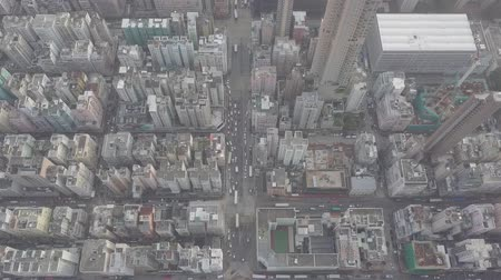 shui : Aerial view over Kowloon, Sham Shui Po, in Hong Kong, crowded and busy,  save in log file