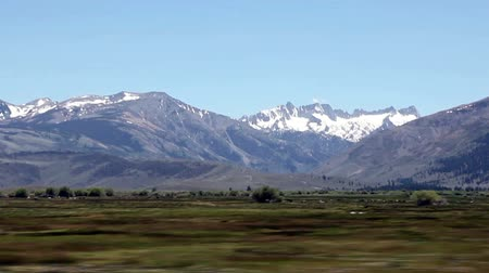 nevada : Mountains And Fields Of Eastern Sierra Nevada California Stock Footage