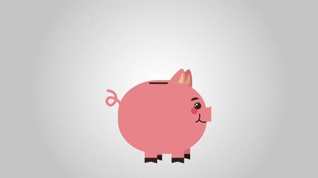 Piggy Bank receiving coins