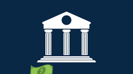 Bank symbol and money