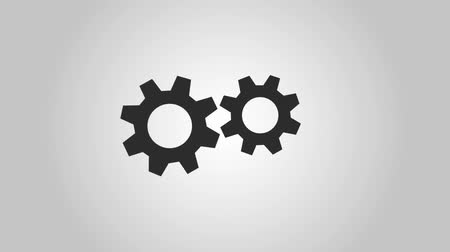 two gears spinning icons animation design