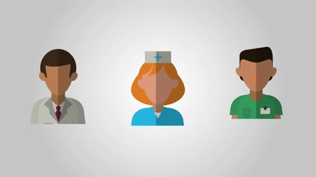 Arzt Chirurg Krankenschwester Avatare Icons Animationsdesign Videos
