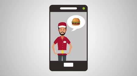 クーリエ : fast food online delivery from smartphone High definition animation colorful scenes
