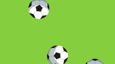 fegyelem : Soccer ball raining motion High definition colorful animation scenes Stock mozgókép