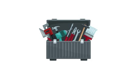 maintenancetools : Box open with construction tools inside