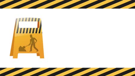 maintenancetools : Under construction sign on black and yellow frame