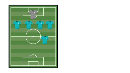 basketball : team soccer aligment animation  illustration design