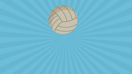 volleyball : hands playing volleyball animation  illustration design