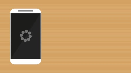 kommunikátor : smartphone device loadding app  illustration design Stock mozgókép