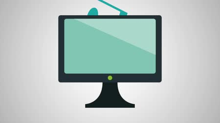 kurzor : tv with music application animations  illustration design