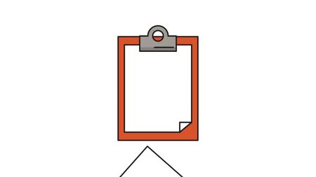 inspecting : checklist clipboard paper animation floor sign High definition colorful scenes