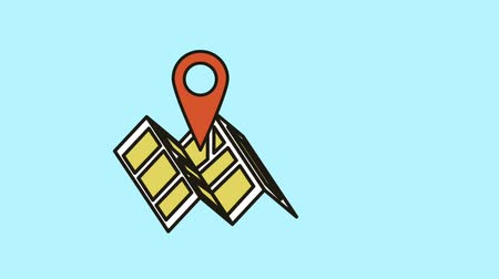 топография : map paper guide animation  illustration design Стоковые видеозаписи