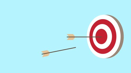 targeting : target with arrows animation  illustration design