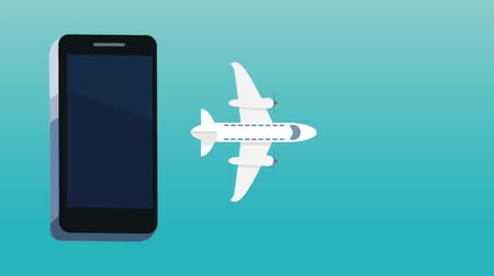 prenotazione : Buying flight tickets online from smartphone High Definition colorful scenes