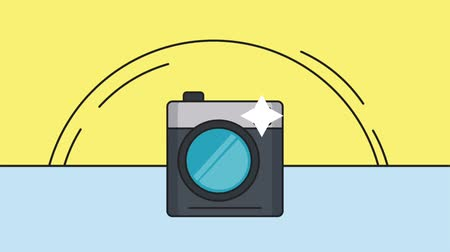card pin : Instant vintage camera taking a shot High definition colorful animation scenes