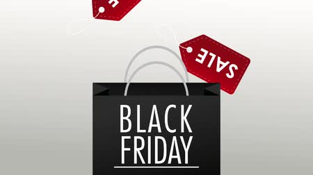 pátek : Black friday shopping bag with sale tag design High Definition colorful animation scenes