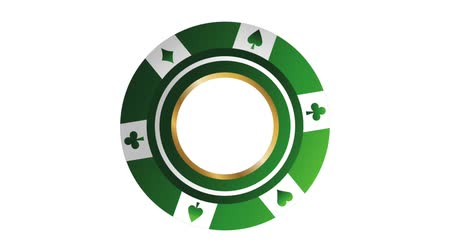 spielkarten : Poker Casino Chip High Definition Animations bunte Szenen Videos