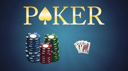 рулетка : Poker casino chips stacked High definiton animation colorful scenes