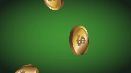 esign : Hand with casino chips over green background High Definition animation colorful scenes