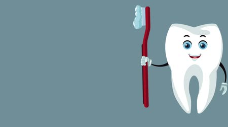denetleme : Dental tooth with brush cartoon High Definition coloful animation scenes