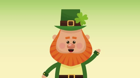 patrik : Cute elf greeting over green background High definition animation colorful scenes