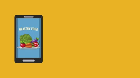クーリエ : Healthy food order from smartphone app high definition animation colorful scenes