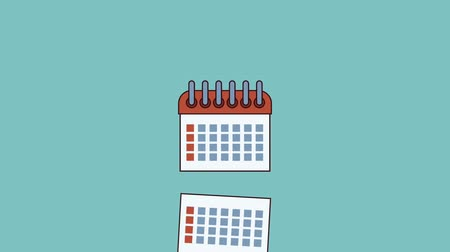 napirend : Calendar planner over blue background high definition animation colorful scenes