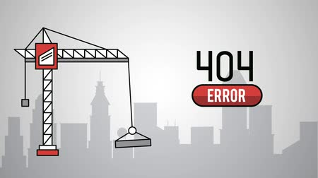 em desenvolvimento : Under construction website error 404 high definition animation colorful scenes