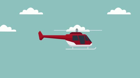 ambulância : Medical helicopter ambulance flying cartoon high definition  colorful animation scenes