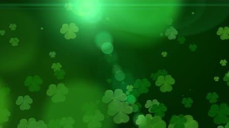 marcha : St. Patricks Day green Shamrock Leaves background. Patricks Day backdrop with growing clover leaf extreme close-up. Patrick Day pub party background