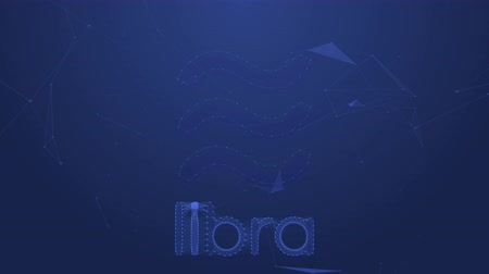 libra : Bangkok,Thailand - June 22 2019 :Libra coins concept motion background Facebook launching cryptocurrency Libra and Calibra digital wallet on June 18, 2019 and coming in 2020