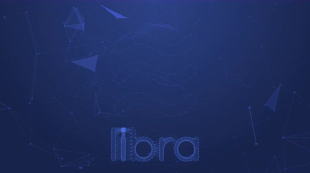 terazi burcu : Bangkok,Thailand - June 22 2019 :Libra coins concept motion background Facebook launching cryptocurrency Libra and Calibra digital wallet on June 18, 2019 and coming in 2020