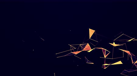 fraktály : Abstract dark gold triangulars technology and science background futuristic network concept background Dostupné videozáznamy