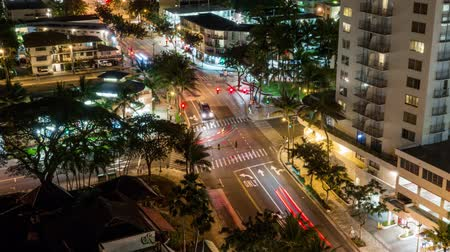 freio : Night Intersection Light Trail Timelapse