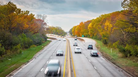 commute transportation : Fall Colors Traffic Timelapse
