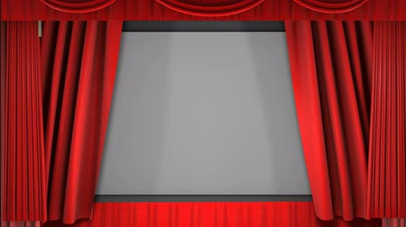 tiyatro : A 1080p video of a theater curtain uncovering the movie screen (16:9).
