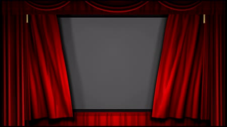 A 1080p (16:9) video of a theater curtain uncovering the movie screen.