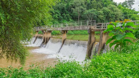 rzeka : River locks In Thailand