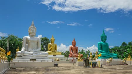 budist : buddha statue Stok Video