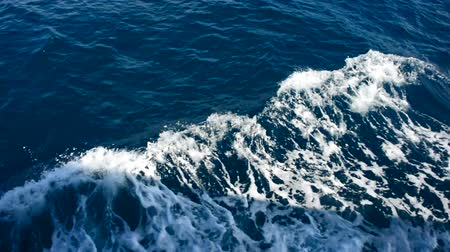 uyanmak : nature blue ocean on ship bow wave wake at outdoor koh changThailand