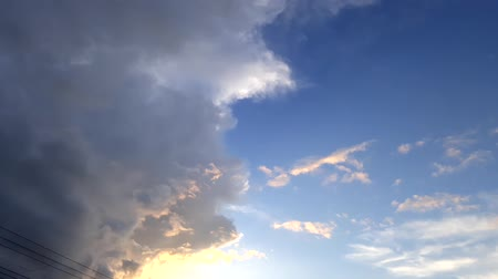 holy heaven : video time lapse  with beautiful clouds. Stock Footage