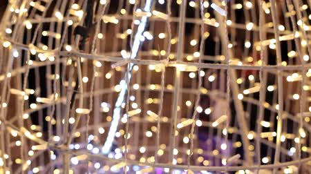 travel theme : Christmas. Glittering garlands. New Years theme Stock Footage