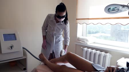 kotník : Beauty and body care concept. ELOS hair removal. Laser hair removal. Photoepilation