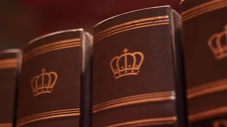 ustawa : Book with a luxurious leather binding