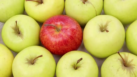 diferença : green apples with one red apple, be different