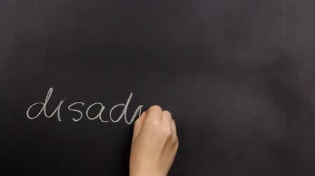desvantagem : Positive thinking, writing advantage on a blackboard