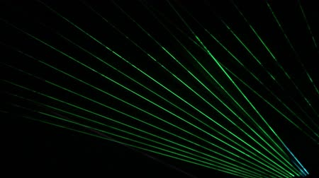 proceed : Laser light show in the dark Stock Footage