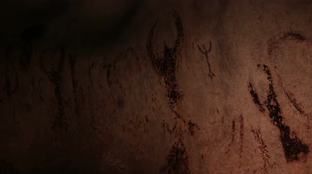 barlang : Authentique 7000 years old rock paintings from Magura cave, Bulgaria.